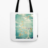 cage Tote Bags featuring The Cage by Sybille Sterk