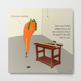 raw carrot. Metal Print