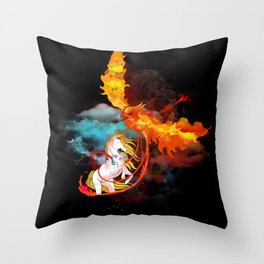 EPIC BATTLE OF COLORS Throw Pillow
