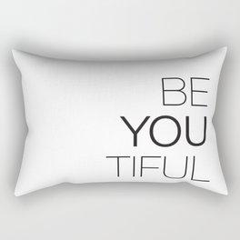 Be Yourself, BeYOUtiful Rectangular Pillow