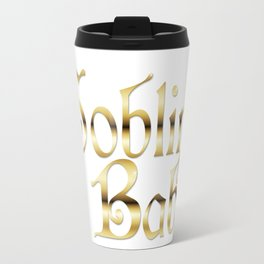 Labyrinth Goblin Babe (white bg) Travel Mug