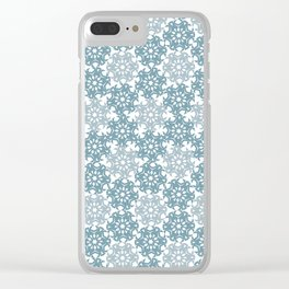 Geometric Snowflakes V5 Clear iPhone Case