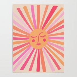 Sunshine – Pink Poster