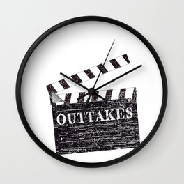 Clapperboard Actor Actress Movie Acting Theatre Gift Wall Clock