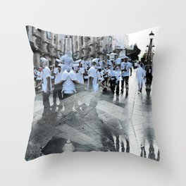 Summer space, smelting selves, simmer shimmers. 17 Throw Pillow