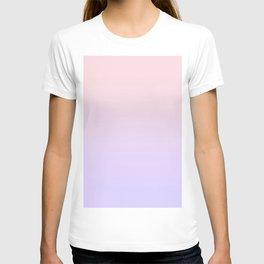 Pale Pink to Pale Violet Linear Gradient T-shirt