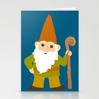 gnome Stationery Cards featuring gnome sweet gnome by Elephant Trunk Studio