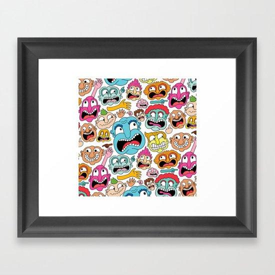 Weird Faces Framed Art Print
