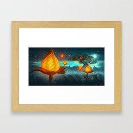 Magical lights Framed Art Print