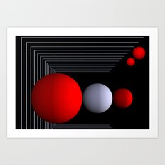 red white black -16- Art Print