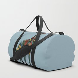 greyhound azure blue Duffle Bag