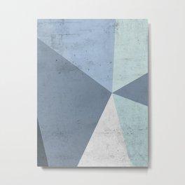 Winter Blue Geometry Metal Print