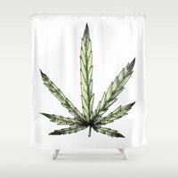 skate Shower Curtains featuring SKATE DELIRIUM by Carlos Hebles