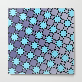Eight Point Stars Metal Print