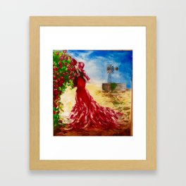 Rose of the Karoo by M.Viljoen Framed Art Print