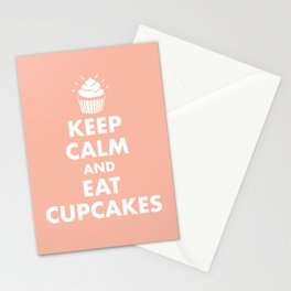 Keep Calm and Eat Cupcakes Stationery Cards