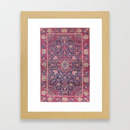 Kashan Central Persian Rug Print Framed Art Print