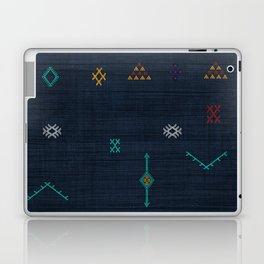 Cactus Silk Pattern in Navy Blue Laptop & iPad Skin