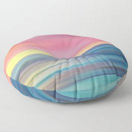 Abstract Seascape 12 Floor Pillow