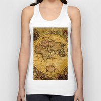 vintage map Tank Tops featuring VintaGe Map by ''CVogiatzi.