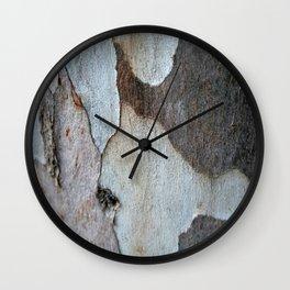 Peeling Bark Of A Eucalyptus Gum Tree Wall Clock