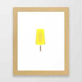 Lemon popsicle Framed Art Print