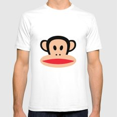 Monkey by Paul Frank Mens Fitted Tee White SMALL