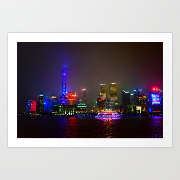 Shanghai 四 Art Print