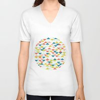 colombia V-neck T-shirts featuring Colombia by Menina Lisboa