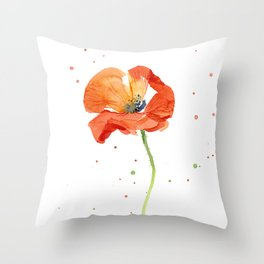 Watercolor Poppy Throw Pillows For Any Room Or Decor Style Society6