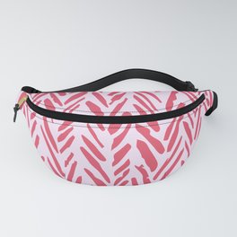 Mauve and lilac herringbone abstract pattern Fanny Pack