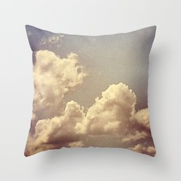 Cloudy sky shot Throw Pillow