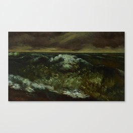"Gustave Courbet ""The Wave 1869 Lyon"" Canvas Print"