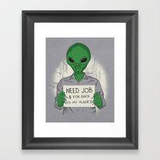 Jobless On Earth Framed Art Print