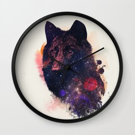 Universal Wolf Wall Clock