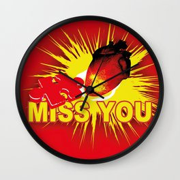 missing part of my heart Wall Clock