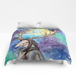 witchy moon Comforters