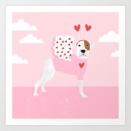 Boxer love bug valentines day dog breed pet gifts dog lover must have Art Print