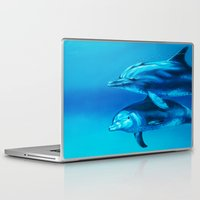 dolphin Laptop & iPad Skins featuring Dolphin by Bocese