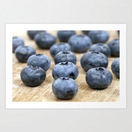 Blue ripe blueberries Art Print