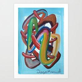 Formas en el espacio 7 Art Print