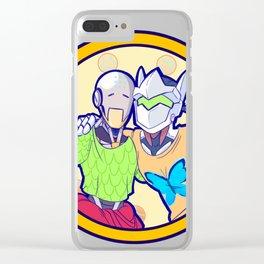 Human and Robot Love - Zenyatta & Genji Clear iPhone Case