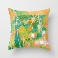 cocktail Throw Pillows featuring cocktail by clemm
