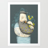 wesley bird Art Prints featuring Bird by Seaside Spirit
