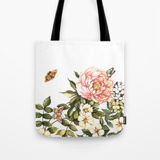 Vintage floral watercolor background Tote Bag
