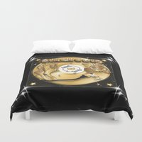 black and gold Duvet Covers featuring Black Gold by Nikola Kolobaric