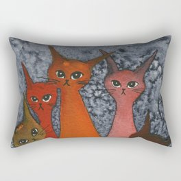 Casablanca Whimsical Cats Rectangular Pillow