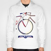 tour de france Hoodies featuring Tour De France by Wyatt Design