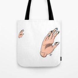 Regarder avec les mains Tote Bag