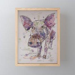Pig line art. Framed Mini Art Print